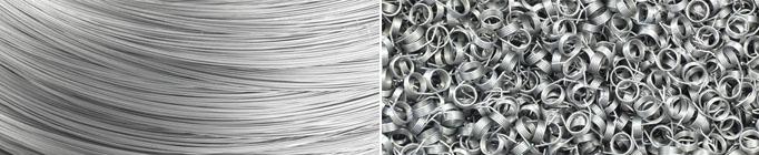 Draht und Metallwaren wie Drahtbiegeteile und Federn