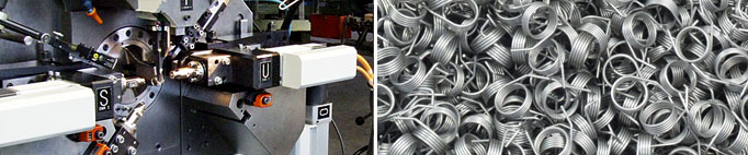 Federn und Drahtbiegeteile in der CNC Maschine
